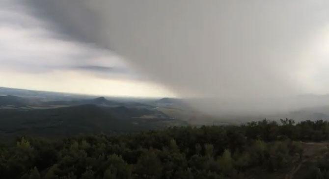 Videó: Így vonult át a vihar a Pilisen