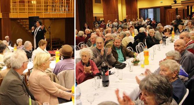 Ünnepeltek a dorogi nyugdíjasok