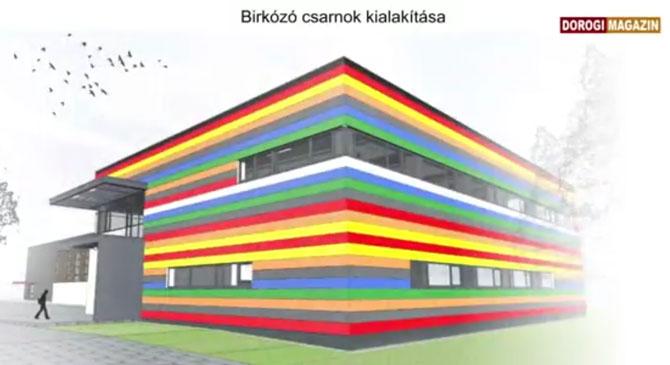 Megkezdődött a dorogi birkózócsarnok építése