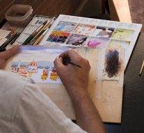 Tovább folytatódik a festőkurzus Táton