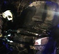 Személygépkocsi égett Pilisjászfalun