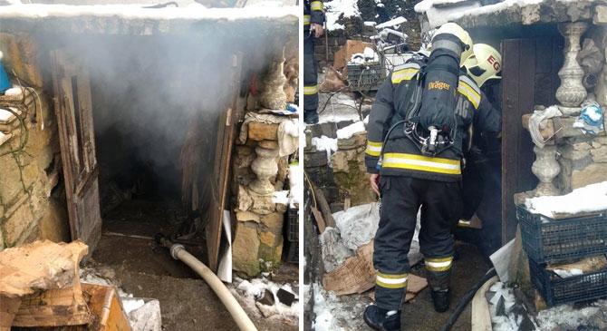 Egy ház pincéje gyulladt ki Piliscsabán