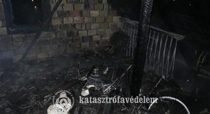 Családi ház égett Esztergomban