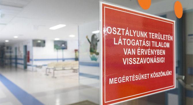 Látogatási tilalom az esztergomi kórházban