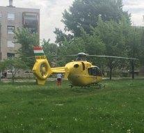 Könnyű sérülthez érkezett a mentőhelikopter