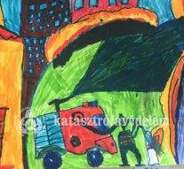 Gyermekrajzok díszítik az esztergomi tűzoltóság falait