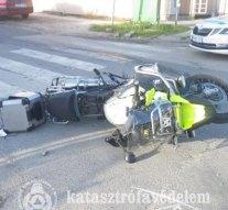 Motoros baleset történt Tokodaltárón
