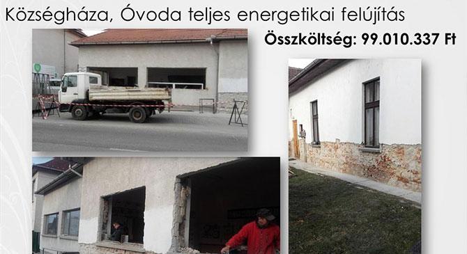 A hivatal és az óvoda épülete is megújult Csolnokon