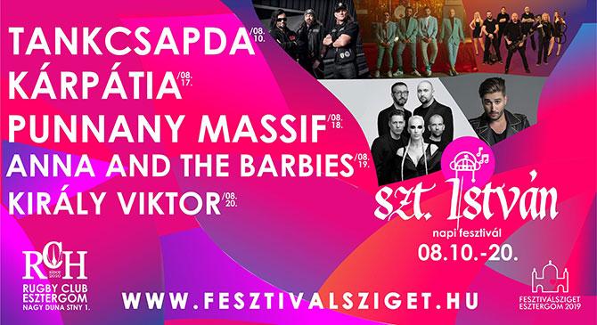 Fergeteges Szent István Napi Zenei Fesztivál 2019-ben is Esztergomban!