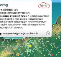 A légszennyezettség szintje átlépte az egészségügyi határértéket