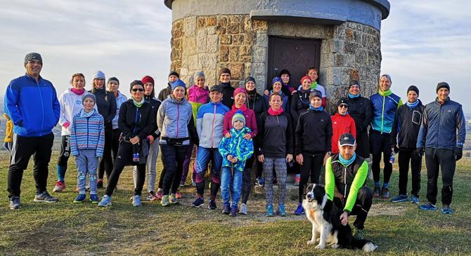 A Kis-Strázsa-hegyre futottak fel újév napján