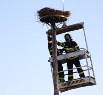 Gólyafészket építettek a sárisápi önkéntesek