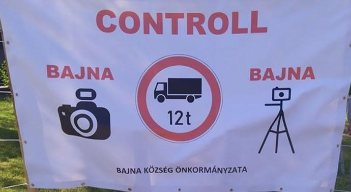 A szabálytalan kamionosok ellen lépnek fel Bajnán