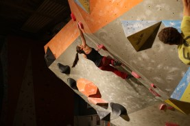 Fun comp in Bayreuth, the climbing wall we designed