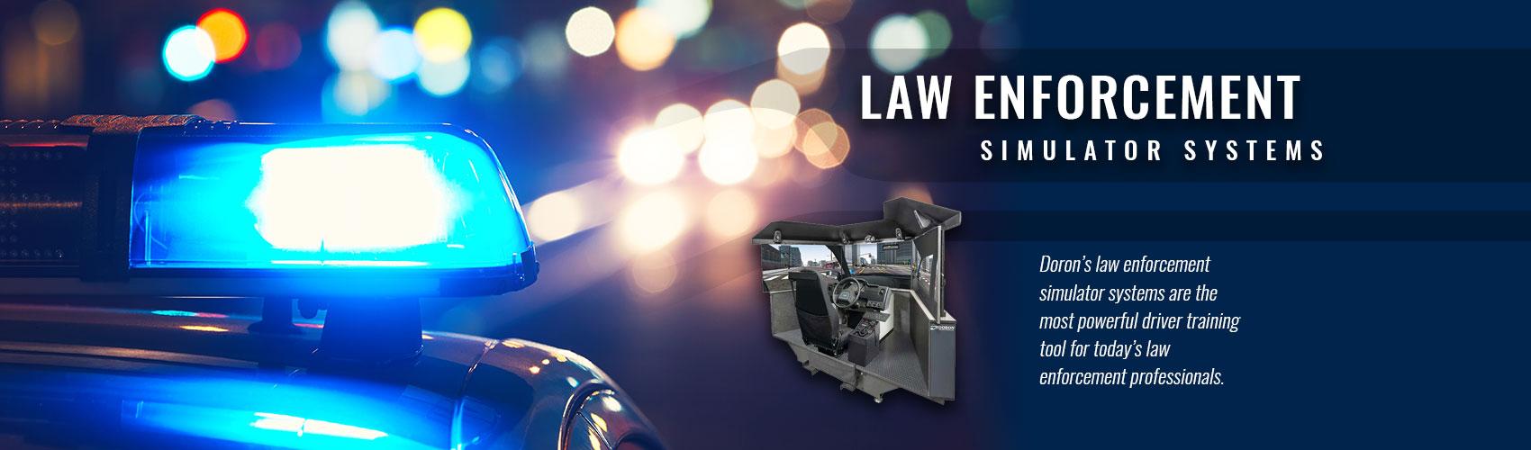 Law enforcement driving simulator