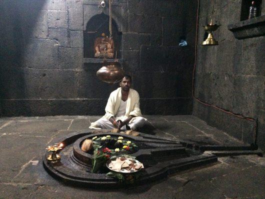 Brahmin in a Siva Temple near Pune