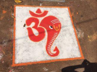 Spiritual street art in India