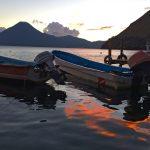 Sunset reflection at Lake Atitlan near Doron Yoga & Zen Center yoga retreat in Guatemala