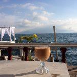 Having a drink at Lake Atitlan near Doron Yoga & Zen Center yoga reatreat in Guatemala