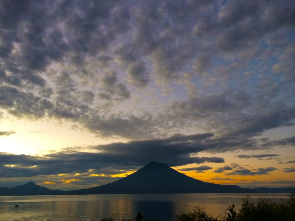Sunrise over Lake Atitlan near Doron Yoga & Zen Center yoga reatreat in Guatemala