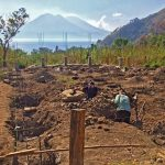 Picturesque moment when digging the Zendo Yoga Shala foundations in Tzununa Guatemala