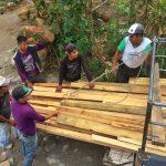 Team of local Mayan workers from Tzununa, Guatemala