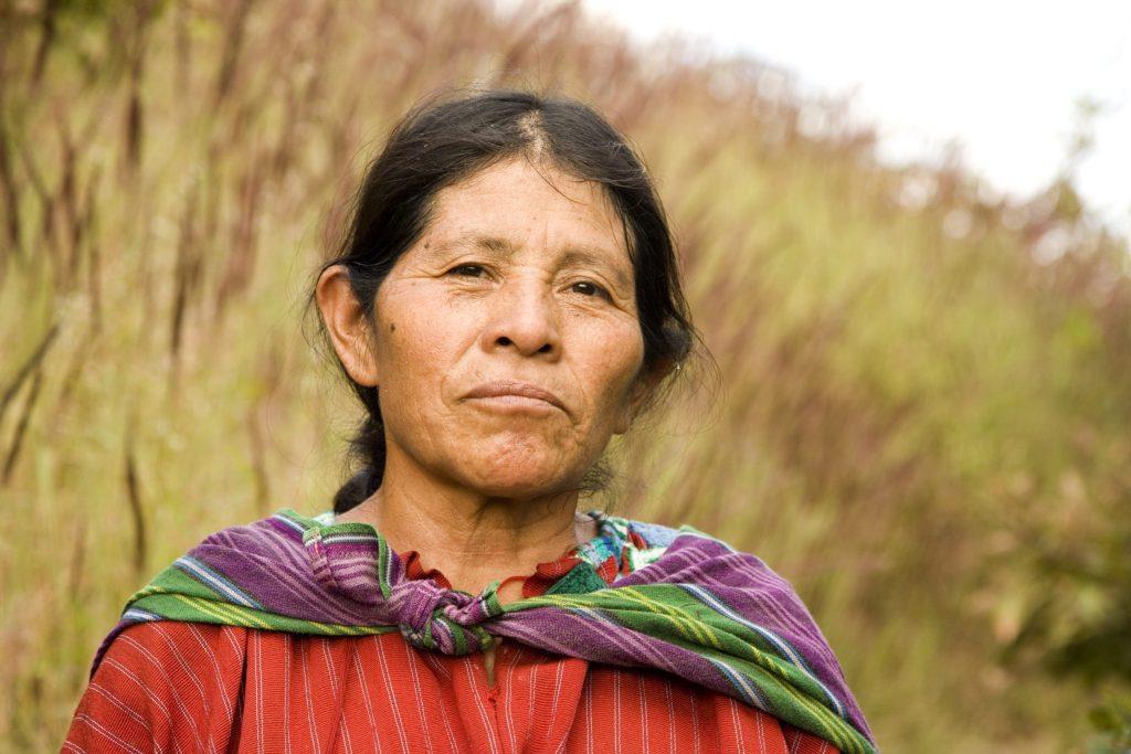 Mayan Woman in a field Lake Atitlan