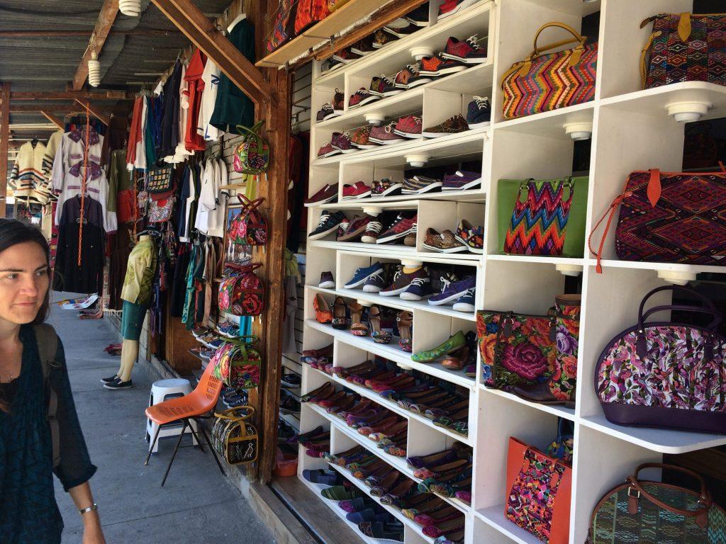 Shopping on Calle Santander in Panajachel