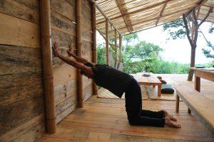 Kneeling Shoulder Opening Yoga Pose