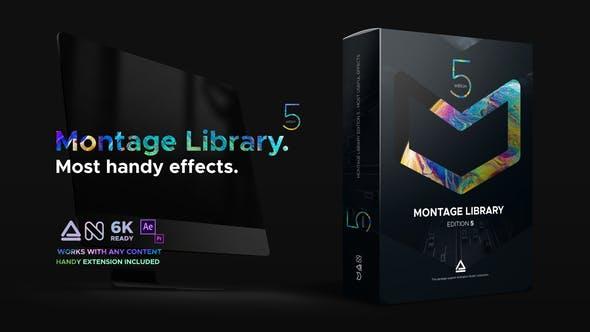 مكتبة المونتاج الرهيبة للافتر افكت أكثر من 1000 تأثير احترافي وإعدادات مسبقة مجانا Montage Library – Most Useful Effects