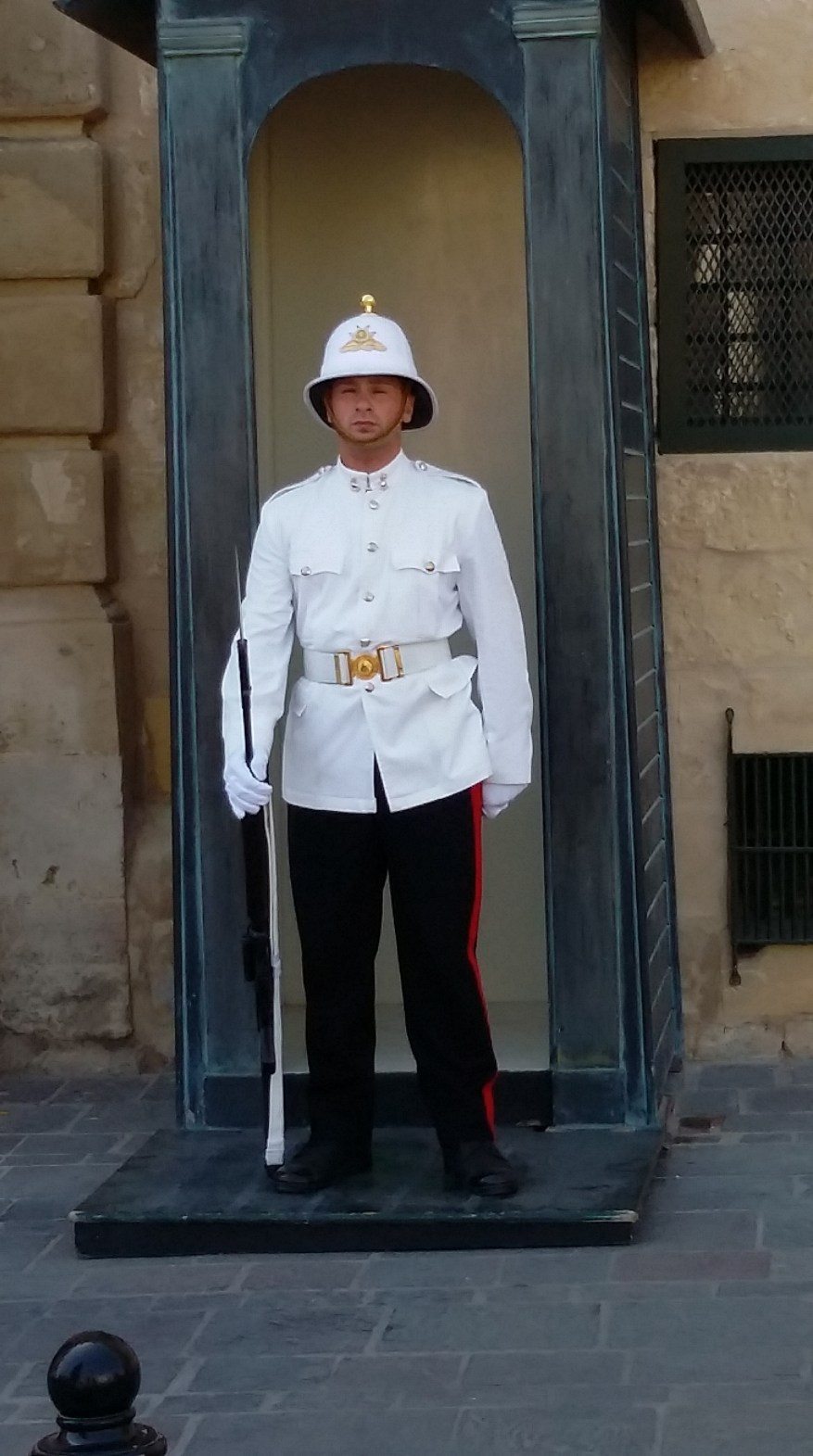 Guardian In front of the Palace in Valletta