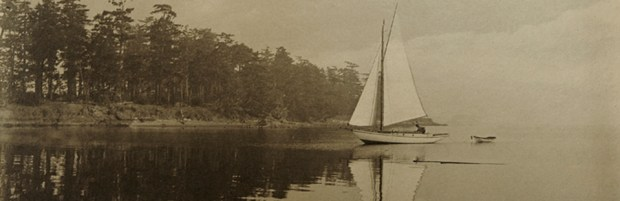 Dorothy on water-sepia