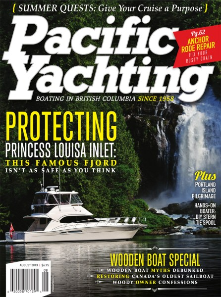 Pacific Yachting Aug 2013 wooden boat special issue