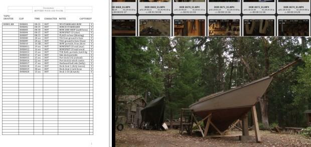 Logging Dorothy footage
