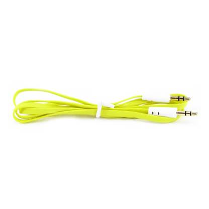 3.5mm (male) to 3.5mm (male) Audio Jack Plug Stereo Aux Lead Wire Cable Yellow
