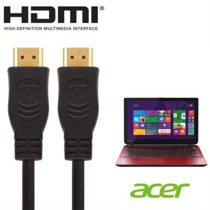 Acer CB5-311, ES1-411, ES1-731 Laptop HDMI to HDMI TV 5m Long with Fuse Gold Cord Wire Lead Cable