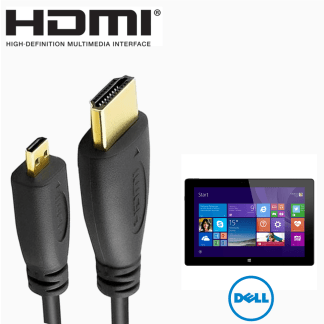 Dell Venue 11 Pro 7000 series HDMI Micro to HDMI TV Monitor 2m Gold Cord Wire Lead Cable