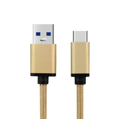 Google Nexus 6P Mobile Phone USB-C to USB-A Laptop PC Charging Charge 'n Sync Data Gold Wire Lead Cable