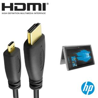 HP Pavilion X2 Laptop PC HDMI Micro to HDMI TV Monitor 2m Gold Cord Wire Lead Cable