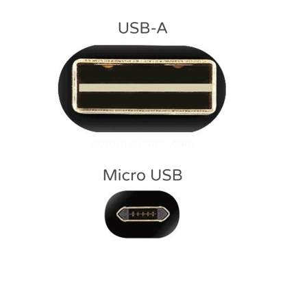SNÄX LG Q6, G4, V10, G3, K10 micro USB(Reversible) Charger/Data 2m Lead Wire Cord Cable - Gold/Black
