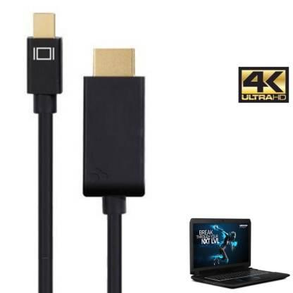Medion Erazor Laptop Mini DisplayPort to HDMI 4K TV Monitor 3m Gold Cord Wire Lead Cable