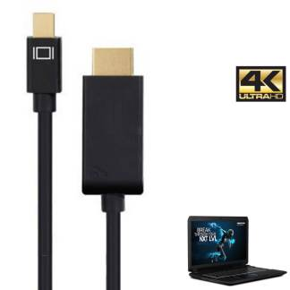 Medion Erazor Laptop Mini DisplayPort to HDMI 4K TV Monitor 3m Gold Cord Wire Lead Cable