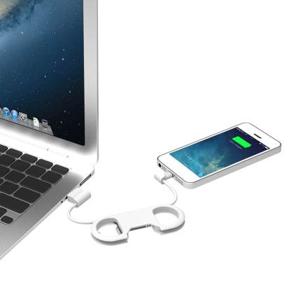 iPhone 6S Plus, SE, 5S, iPad Mini 4, 3 / Air 2 & iPod Nano / Touch Charge / Data Sync USB Laptop / PC Lightning Travel Lead Wire Cord Cable / Bottle Opener / Key Chain (3 in 1)