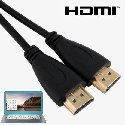 Samsung, Acer, HP, Asus Chromebook Laptop HDMI TV 3m Gold Lead Wire Cord Cable