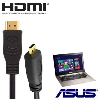 Asus TAICHI 21, Transformer Book T300 CHI Laptop PC HDMI to HDMI Micro TV 2m Gold Cord Wire Lead Cable