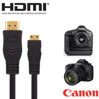Canon Powershot SX60, SX510, SX520 HS, EOS 7D Mark II Camera HDMI Mini TV 2.5m Gold Cord Wire Lead Cable