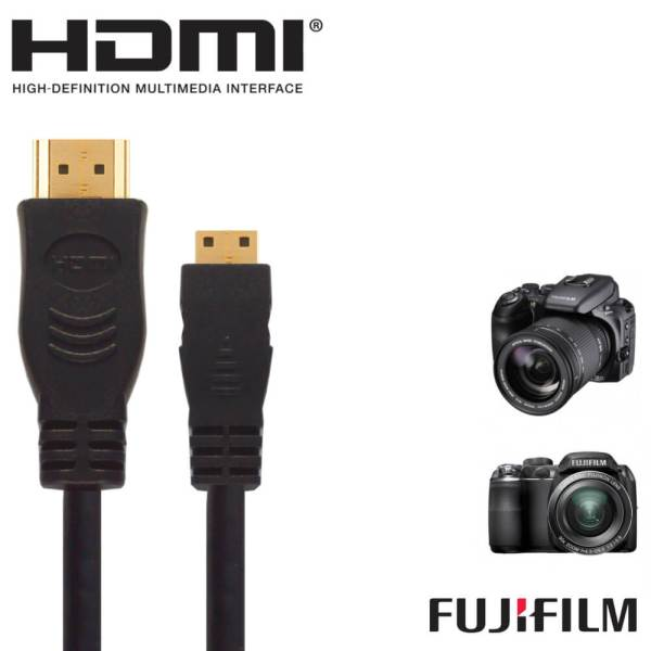 Fujifilm Finepix X20, S9200, X100S HDMI Mini TV 2.5m Gold Cord Wire Lead Cable