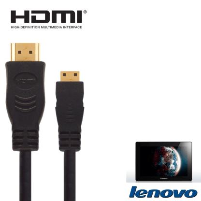 Lenovo ThinkPad Yoga 12 Laptop Ultrabook HDMI Mini to HDMI TV 2.5m Gold Cord Wire Lead Cable