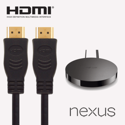 Google Nexus Player HDMI to HDMI TV 2m Gold Lead Wire Cord Cable