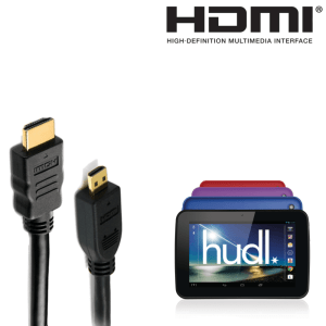 Tesco Hudl2 / Hudl Android Tablet Micro HDMI to HDMI TV 1.8m Gold Cord Lead Wire Cable